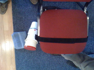 2. Wrap Velcro Strip Around Chair